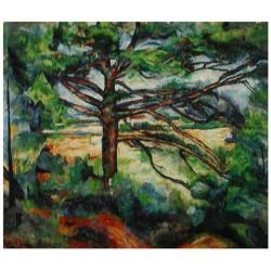 """Gobelin """"Czerwona ziemia i drzewo"""""""